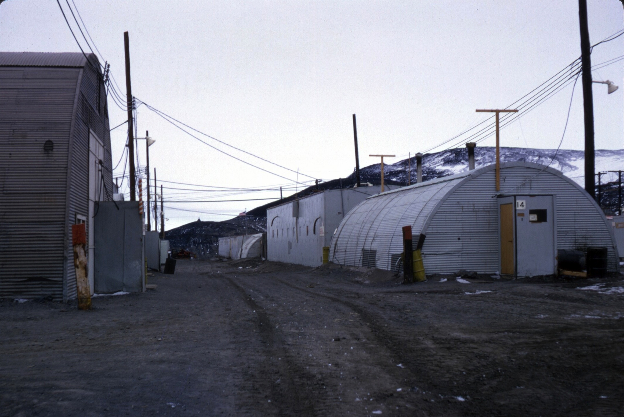 Quonset hut buildings.
